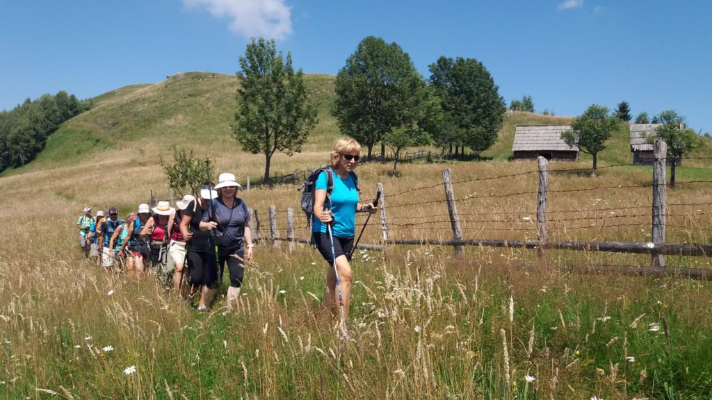 Trekking in the countryside